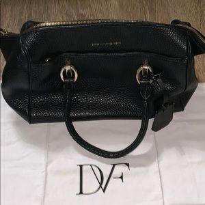 Diane Von Furstenberg Pebbled Leather Satchel Bag